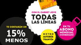 L'Abonament Transport Jove registra més de tres milions de desplaçaments durant 2016 en Metrovalencia, EMT i Metrobús
