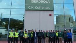 La central nuclear de Cofrentes agradece a la Guardia Civil su colaboración durante el pasado temporal de nieve