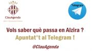 L'Ajuntament d'Alzira crea un canal de Telegram per a fer més accessible l'agenda d'actes i esdeveniments de la Ciutat