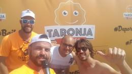 Ivan Colmenarejo, alma mater de 3BSec con micrófono enel Taronja Games