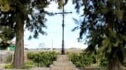 Almussafes repara la Cruz del Término por primera vez desde su instalación en 1983