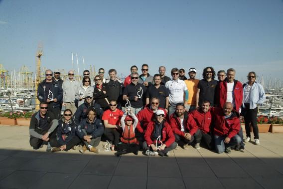 Foto de Familia de Premiados Trofeo Presidente de clase crucero del RCN Valencia