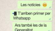 La Generalitat estrena sistema de alertas por Whatsapp