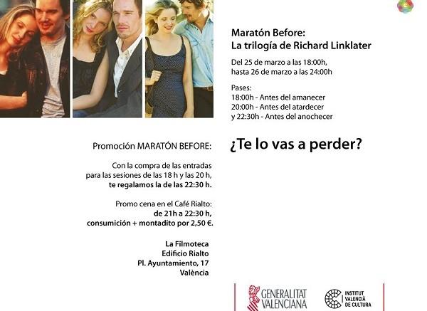 La Filmoteca organitza una marató amb la trilogia 'Before', de Richard Linklater