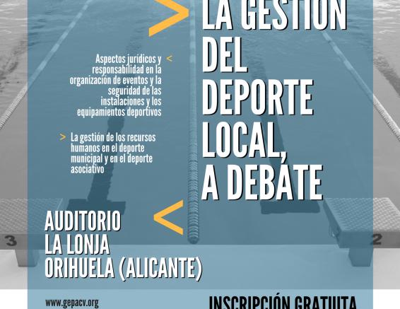 Orihuela acoge la jornada formativa sobre la gestión deportiva local