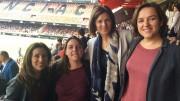 Les regidores d'Igualtat i Polítiques Inclusives, d'Esport i de Protecció Ciutadana, han acudit al partit de futbol de la jornada 26 de la Primera Divisió Femenina entre el Valencia C.F. i el Levante U.D.