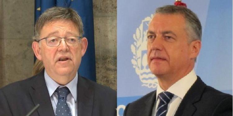 El president Ximo Puig se reúne con el lehendakari íñigo Urkullu este martes