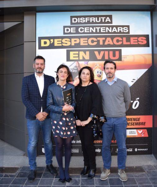 En la foto: Carlos Galiana, Elena Tejedor, Julia Martínez y Rafa Torres.
