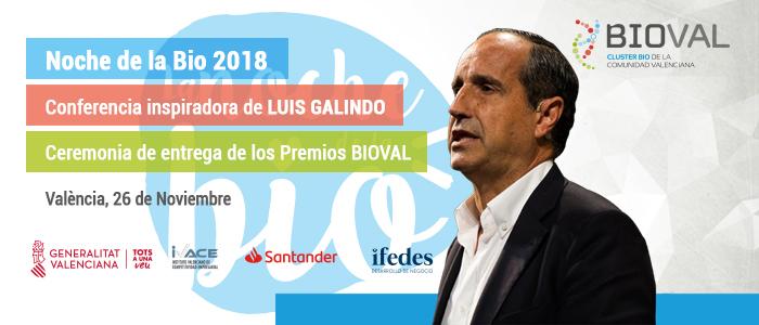 En la Noche la BIO 2018,que se celebrará el 26 de noviembre, se entregarán los Premios BIOVAL