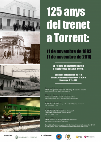Cartel de la exposición 125 Anys del Trenet de Torrent