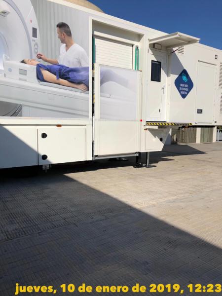 Unidad Movil Resonancia Magnética en Hospital de La Ribera de Alzira