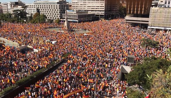 Manifestación en Madrid por España
