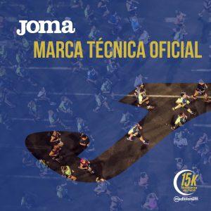 Joma, nuevo sponsor técnico oficial de la 15K Nocturna Valencia Banco Mediolanum