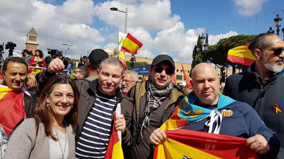 Vox Valencia en la Manifestación de Barcelona