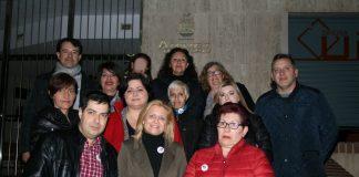Inmaculada Porcar con Vicednte Bellvis y miembros de Avant-Los verdes Paiporta