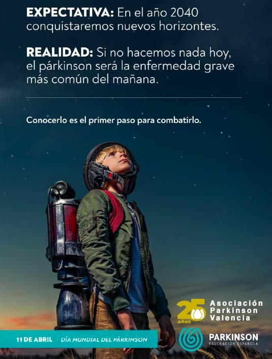 Cartel 25 Aniversario Asociación Parkinson Valencia