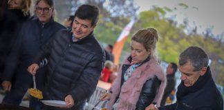 Toni Cantó la candidata al Congreso por la provincia de Valencia, María Muñoz, el candidato a la alcaldía de Valencia, Fernando Giner