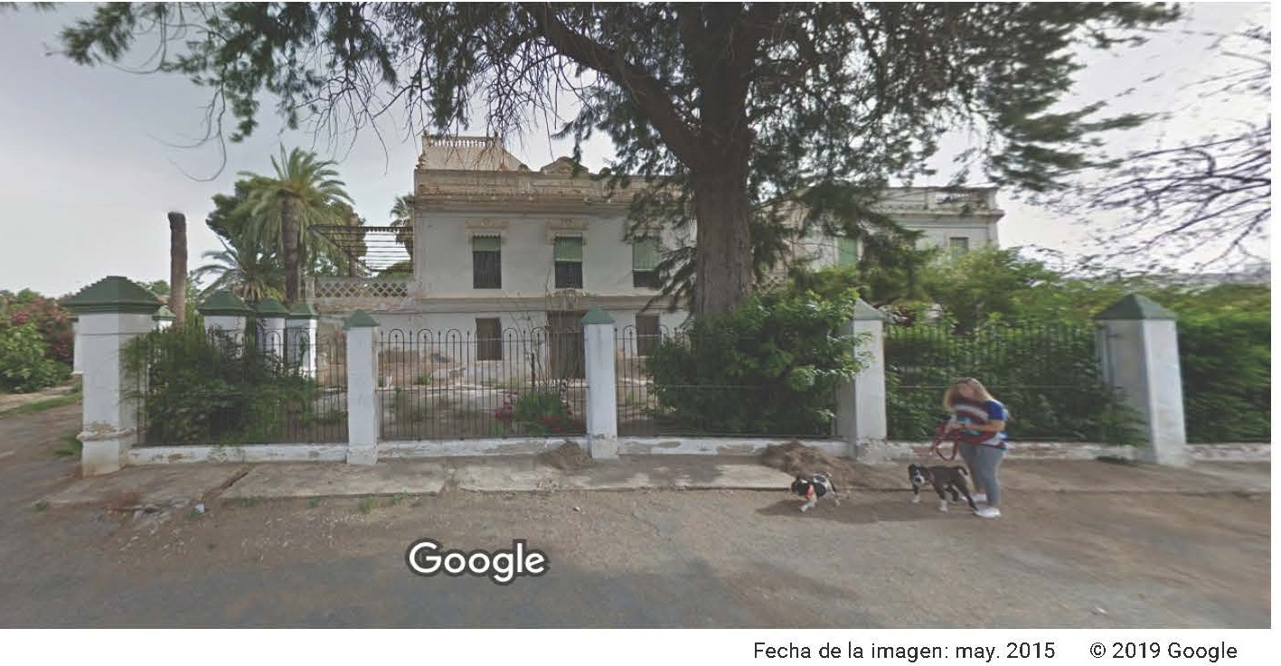 Hort Barral estado en el que se encontraba en 2015 Foto Google Maps