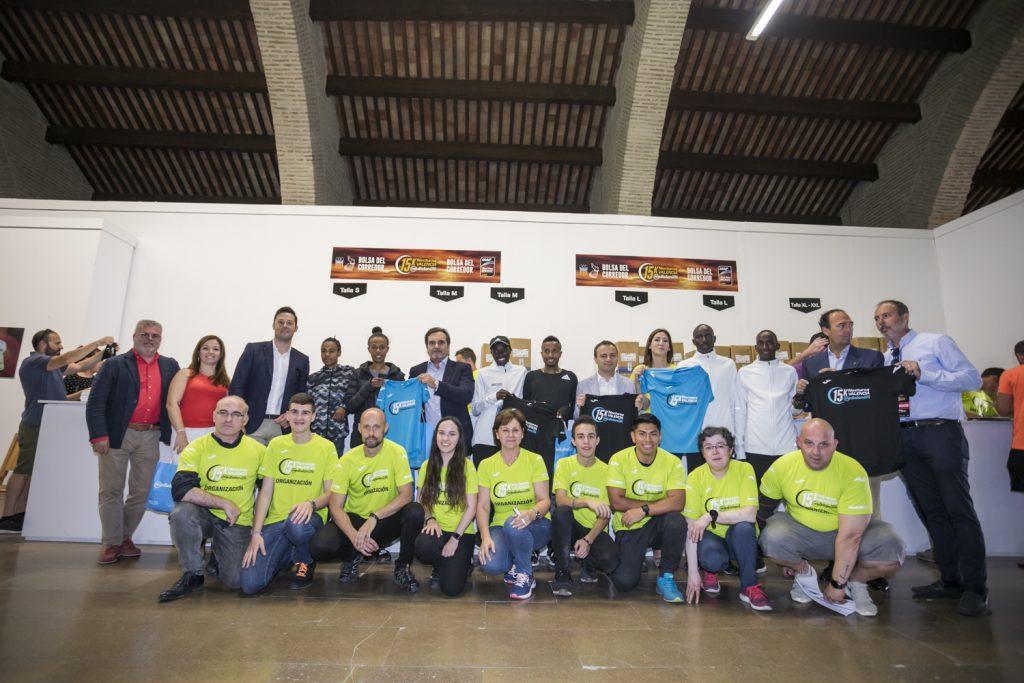Corredores de elite, voluntarios, 15k nocturna Valencia Banco Mediolanum