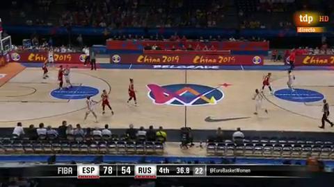 España 78 - 54 Rusia