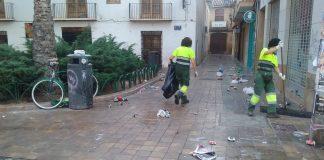 Valencia gasta 6500€ cada domingo en limpiar el botellón ilegal
