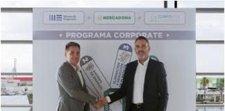 NichanBakkalian, responsable de Organización de Mercadona, junto a Javier Jiménez Marco, director general de Lanzadera, en las instalaciones de Marina de Empresas.