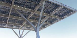 Construcción de 5 pérgolas fotovoltaicas con cargador de baterías eléctricas