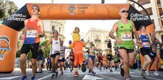 El Punto de Animación Taronja impulsa a los corredores del Medio Maratón Valencia Trinidad Alfonso
