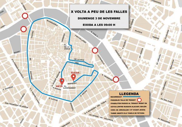 X Volta a Peu de les Falles que se celebra hoy en el centro