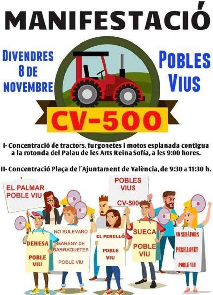 Los Pobles del Sur contra el proyecto de la CV500 se hartan de Ribó y de la Generalitat