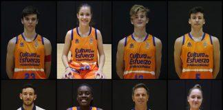 8 integrantes de L'Alqueria del Basket, con la selección española