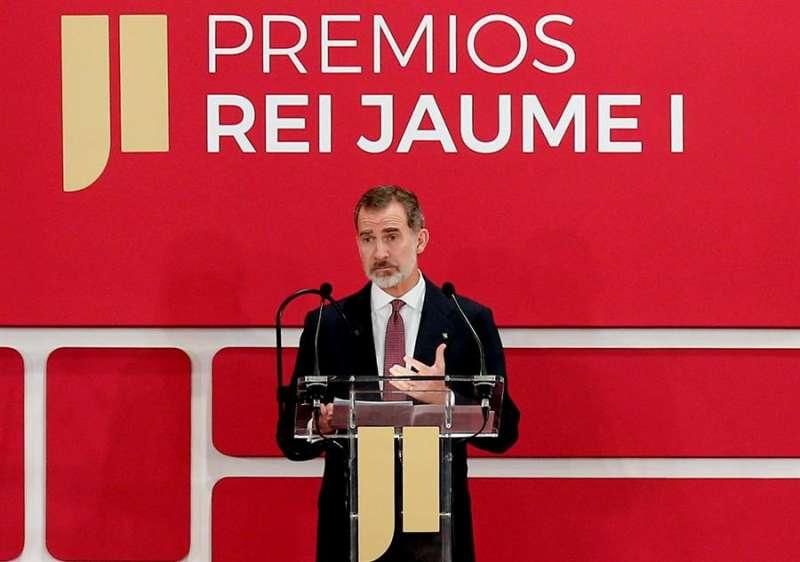 SM durante su discurso en la entrega de premios Jaume I