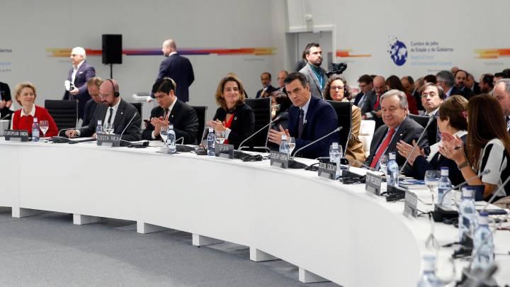 COP25 mesa de presidencia y países participantes
