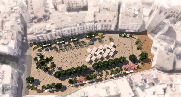 La remodelación de la Plaza de la Reina eliminará 8 líneas de EMT del entorno