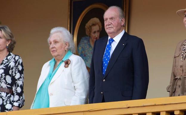 La última salida de la Infanta Pilar con su hermano Don Juan Carlos