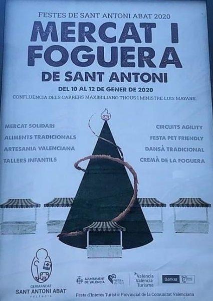 Festividad de San Antonio Abad en el barrio de Sagunto de Valencia