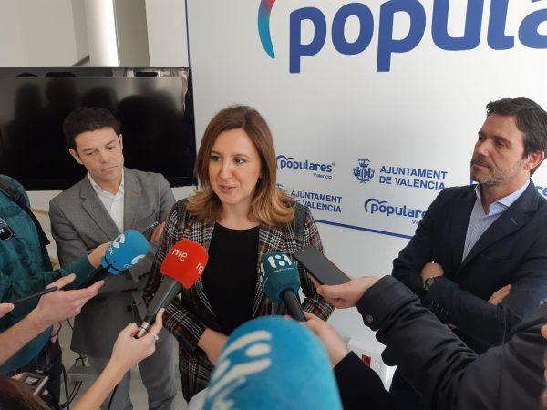 """María José Catalá: """"el alcalde Ribó ha tomado el pelo a comerciantes y vecinos al imponer un proyecto que es una cacicada y sin consensuarlo con los afectados"""""""