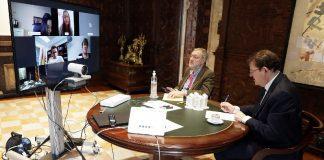 El president Puig agradece a Inditex la donación de 12 respiradores y a la Fundación del Valencia CF la cesión de 50 apartamentos