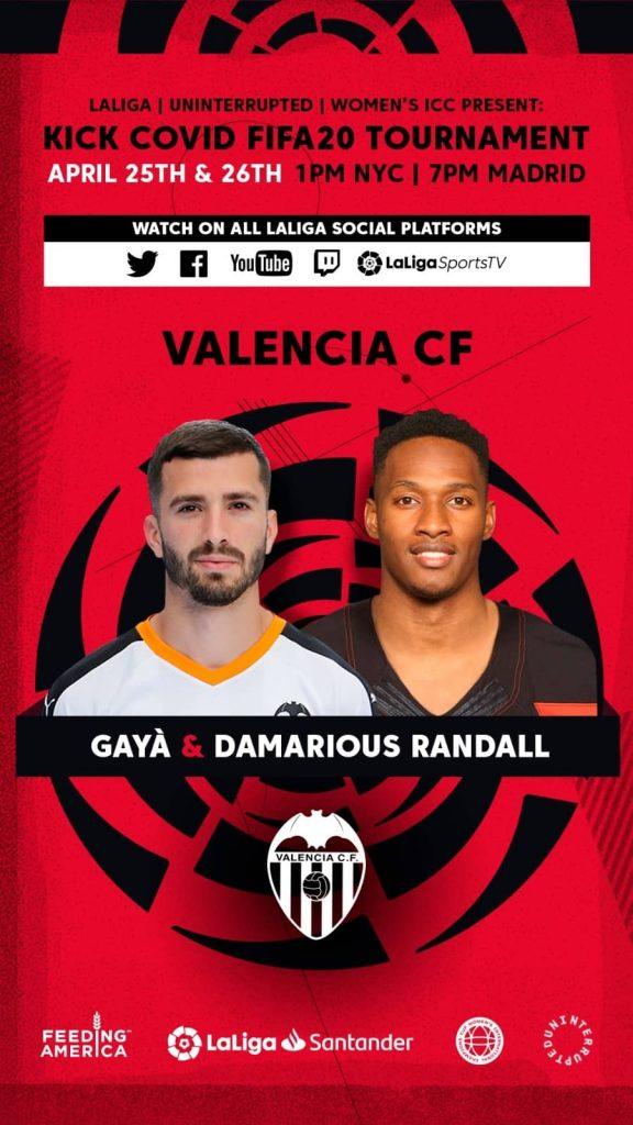 Gayà representa al Valencia CF en el torneo benéfico 'Kick COVID FIFA20'