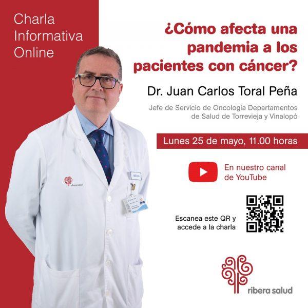 Dr..Juan Carlos Toral,Jefe servicios de Oncología de Torrevieja y Vinalopó Salud