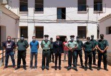 El presidente de la Diputación agradece el trabajo de la Guardia Civil durante la pandemia