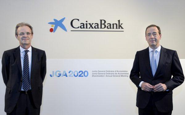 Jordi Gual Presidente de CaixaBank y Gonzalo Cortazar Consejero delegado de la entidad