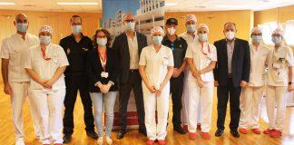 El Hospital del Vinalopó realiza test COVID-19 a la Policía Nacional y Guardia Civil de Elche