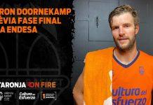 """Aaron Doornekamp: """"Estamos recuperando sensaciones, con ganas de que empiece la Fase Final"""""""