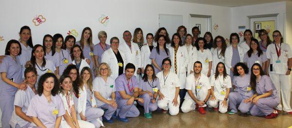 Equipo de Pediatría y Ginecología del Hospital