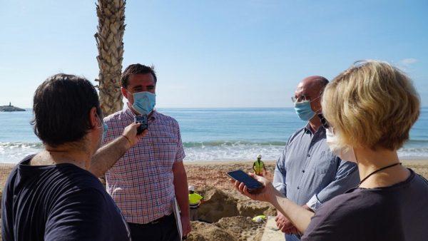El director general de Turismo, Herick Campos, y el alcalde, Andreu Verdú