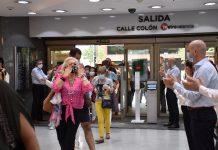 Emocionada reapertura de los centros de El Corte Inglés de la Comunidad Valenciana