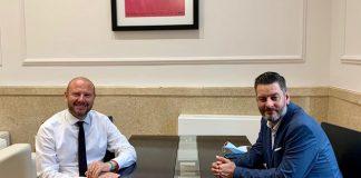 Gaspar y Galiana se reúnen para coordinar las ayudas a los sectores más afectados por la suspensión de las Fallas