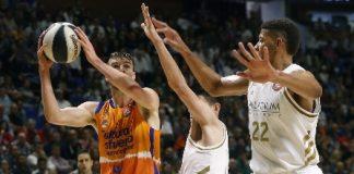 Valencia Basket pone en juego su liderato del grupo B ante el Real Madrid