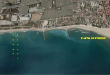 Se baliza un canal en Pinedo para la práctica de actividades náuticas